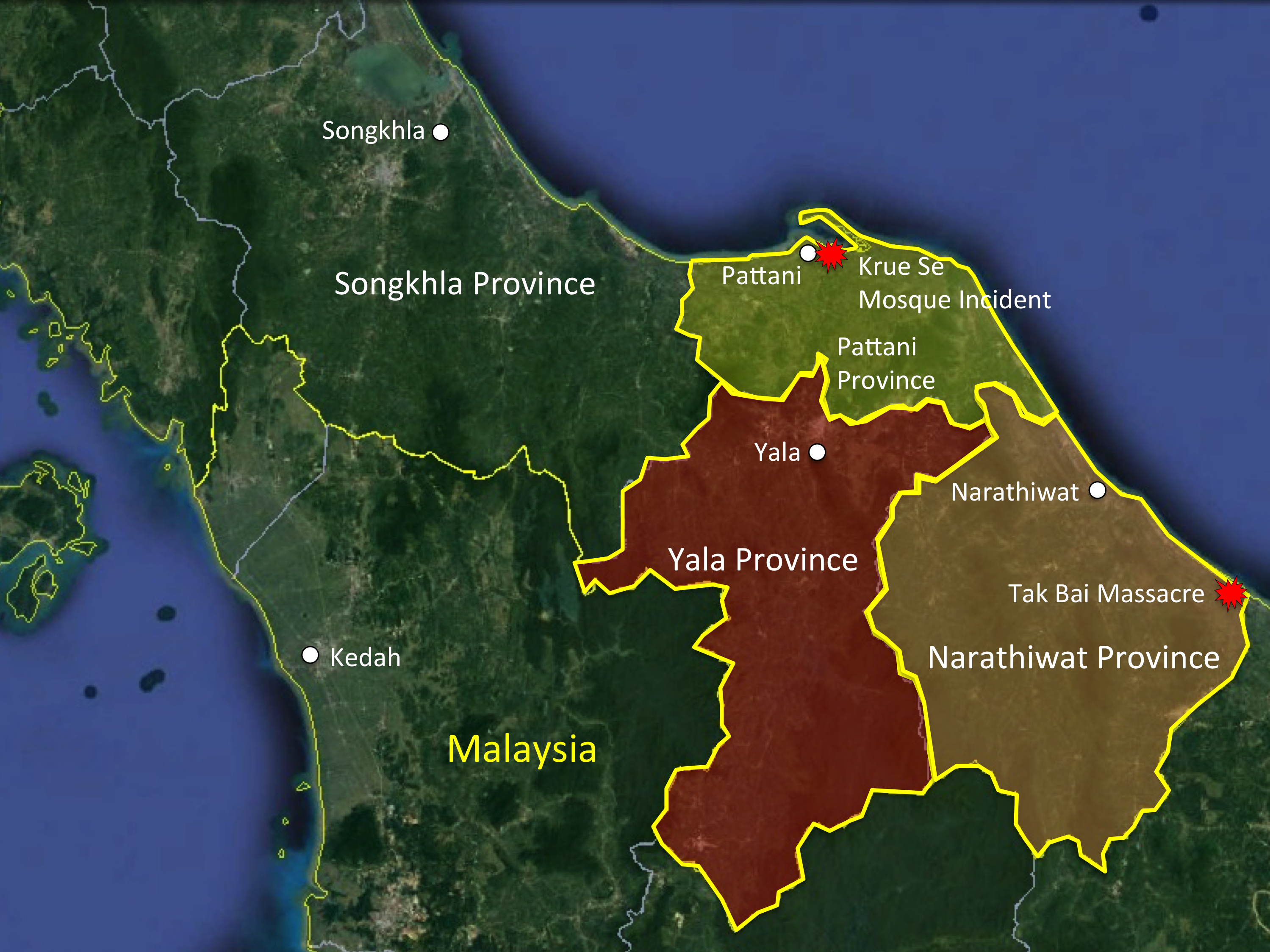 Pattani Thailand Map.Democracy Archives The Affiliate Network
